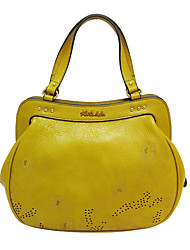 cheap -Women Bags Cowhide Tote Beading Pattern / Print for Event/Party Casual All Season Yellow