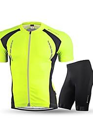 Nuckily Maillot et Cuissard de Cyclisme Homme Adulte Manches Courtes Vélo Ensemble de Vêtements Cyclisme Fitness, course et yoga Sangle