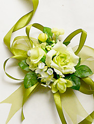"cheap -Wedding Flowers Wrist Corsages Wedding Chiffon Silk Cotton Satin 1.97""(Approx.5cm)"