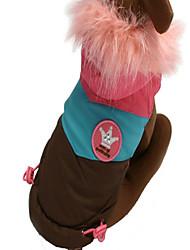 Недорогие -Собака Комбинезоны Одежда для собак Дышащий Новый год Контрастных цветов Кофейный Красный Костюм Для домашних животных