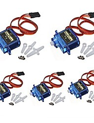 cheap -5x Pcs SG90 Micro Servo Motor 9G RC Robot Helicopter Airplane Boat Controls