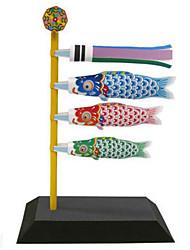 abordables -Puzzles 3D Maquette en Papier Jouets de pêche Loisirs Créatifs en Papier Kit de Maquette Carré Poissons 3D Articles d'ameublement A Faire