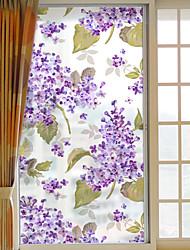 Недорогие -Цветы Стикер на окна,ПВХ/винил материал окно Украшение