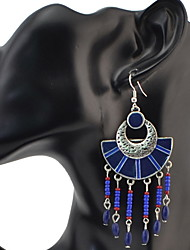 cheap -Drop Earrings Women's Euramerican 4 Colors Bohemian Geometric Tassel Earring Chain Dangle Long Earrings for Women Jewelry