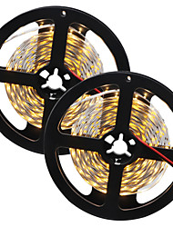 HKV® 1PCS 10M(2x5M) 80W 300LED 5630SMD NO-Waterproof Warm White WhiteLight Normal Brightness Flexible LED Light Bar Strip (DC 12V)