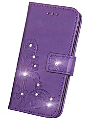 cheap -Case For Samsung Galaxy Note 8 Wallet Card Holder Rhinestone with Stand Flip Magnetic Embossed Pattern Full Body Flower Hard PU Leather