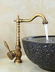 cheap -Bathroom Sink Faucet - Swivel Bronze Centerset One Hole