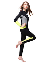 cheap -HISEA® Women's Full Wetsuit 3mm SCR Neoprene Diving Suit Thermal / Warm Long Sleeve Back Zip Solid Colored Spring / Winter
