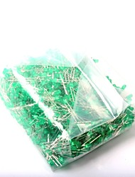 LED Light-Emitting Diode 3MM Green Light (1000Pcs)