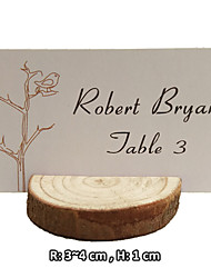 4pcs/set Real Wooden Place Card Holder Beter Gifts® Wedding Decoration