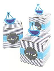abordables -50 pcs voilier forme bonbons boîte bébé douche décorations enfants faveur boîte