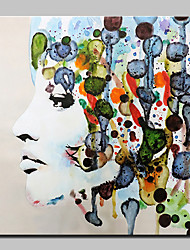 cheap -Big Size Hand Painted Abstract Color Girl Oil Painting On Canvas Wall Art Pictures For Home Decoration No Frame