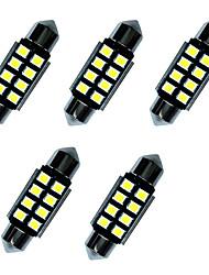 5pcs doppelte spitze geführte Lichter 36mm 1w 8smd 2835 Spanweiß 80-100lm 6000-6500k dc12v canbus Leselicht-Kfz-Kennzeichenlichter
