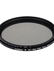 Andoer 72mm nd fader neutrale dichtheid instelbare nd2 naar nd400 variabele filter voor Canon Nikon DSLR camera