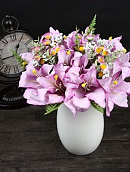 Holding Flowers Flowers Wedding Bouquet Of Lilies Simulation Home Decoration