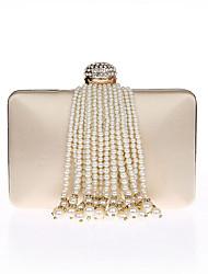 Damen Taschen Ganzjährig Polyester Abendtasche Strass Perlen Verzierung Quaste für Veranstaltung / Fest Champagner Schwarz Silber Rote