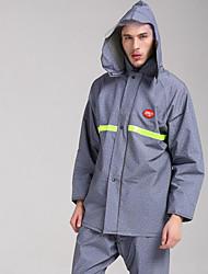 cheap -Motorcycle Raincoats Fashion Denim Reflective Raincoats Trousers Sets Breathable Split Raincoat