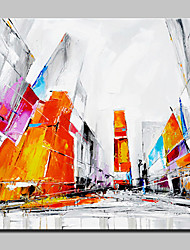 Large Size Hand-Painted City Oil Painting On Canvas Wall Art Picture For Home Decoration No Frame