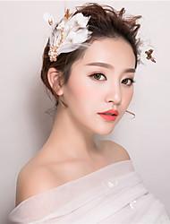 abordables -plumas flores pinza de pelo casco elegante estilo femenino clásico