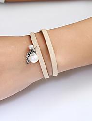 Women's Chain Bracelet Wrap Bracelet Leather Bracelet Fashion Bohemian Hip-Hop Gothic Costume Jewelry Ferroalloy Metal Geometric Irregular