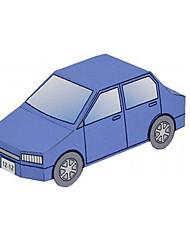 abordables -Coches de juguete Puzzles 3D Maqueta de Papel Tren Coche de policía Ambulancia Juguetes Aeronave Cola Coche Barco Autobús Manualidades No