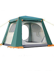cheap -3-4 persons Tent Double Camping Tent Automatic Tent Keep Warm Dust Proof for Camping / Hiking Other Material CM