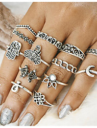 cheap -Vintage Palm Elephant Midi Rings Alloy Jewelry For Daily 1set