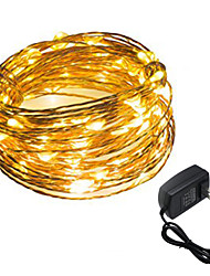 cheap -HKV® 1PCS 5M 50LED US Plug EU Plug UK Plug Outdoor Christmas Fairy Lights Cool White Warm White Copper Wire LED String Light Decoration AC 100-240V