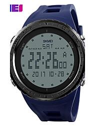 Недорогие -SKMEI Муж. Спортивные часы электронные часы Цифровой PU Группа Черный Синий Зеленый Серый