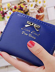cheap -Women's Bags PU Checkbook Wallet for Casual All Seasons Fuchsia Deep Blue Red