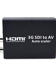 HD 3G SDI to CVBS Converter Auto Scaler Support 1080P L/R Audio Output SD-SDI HD-SDI Signal to Normal TV