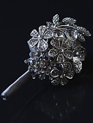 economico -accessori di cerimonia nuziale della spilla dello sposo grigio di lusso del diamante di lusso