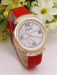 Per donna Orologio alla moda Quarzo PU Banda Casual Nero Bianco Blu Rosso Arancione Marrone Rosa Viola Rose