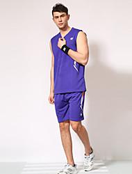 בגדי ריקוד גברים ללא שרוולים כדורסל מדים בסטים מכנסיים קצרים עמיד בפני שחיקה ספורט