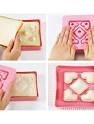 cheap -Sandwich Mold DIY Tool Love Heart Shape Bread Toast Maker Mould Cutter Love Breakfast Kitchen