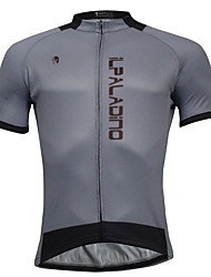 cheap -ILPALADINO Men's Short Sleeves Cycling Jersey - Gray Bike Jersey, Quick Dry, Spring Summer, Polyester Coolmax