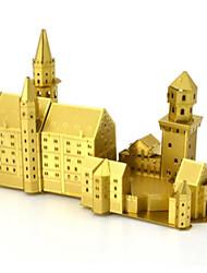 baratos -Quebra-Cabeças 3D Quebra-Cabeça Quebra-Cabeças de Metal Brinquedos de Montar Cisne Construções Famosas 3D Faça Você Mesmo Latão Alumínio