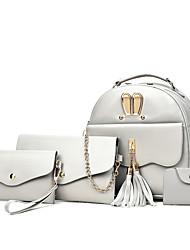 Недорогие -Жен. Мешки PU рюкзак Комплект поставки 4 шт. Черный / Розовый / Серый