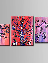 cheap -Hand-Painted  Abstract Oil Painting Set of 3 With Stretcher For Home Decoration Ready to Hang