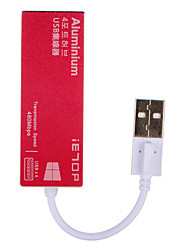 cheap -IETOP 4 Ports USB 2.0 High Speed HUB Ultra Slim Pink/gray