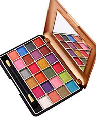 24 Palette di ombretti Secco Gamma di colori dell'ombretto Cipria Trucco giornaliero