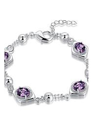 Women's Chain Bracelet Charm Bracelet AAA Cubic Zirconia Natural Friendship Gothic Movie Jewelry Fashion Vintage Bohemian Punk Hip-Hop