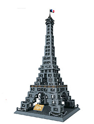cheap -Building Blocks Toys Square Tower Famous buildings Architecture Pieces Unisex Boys Birthday Gift