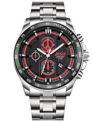 Men's Dress Watch Fashion Watch Quartz Calendar / date / day Stainless Steel Band Casual Silver