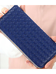 Women Coin Purse PU Polyester All Seasons Square Clasp Lock Blue Black Blushing Pink