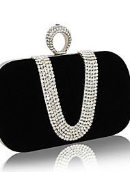 cheap -Women Bags Nylon Evening Bag Chain Mini Spot for Wedding Event/Party Formal All Seasons Black Red Fuchsia