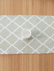 Nordic Style Geometry Cotton And Linen Table Mats 32*45cm