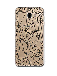 For Samsung Galaxy A3(2017) A7(2017) Case Cover Transparent Pattern Back Cover Case Lines / Waves Geometric Pattern Soft PC for Galaxy A5(2017) A8