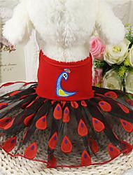 abordables -Chien Robe Vêtements pour Chien Décontracté / Quotidien Animal Jaune Rouge Rose Costume Pour les animaux domestiques