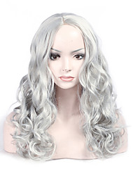 Fashion Grey Color Middle Wave Woman's Synthetic Hair Wig Party and Daily Life